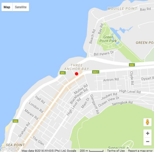 Map VicmorCourt  in Sea Point  Atlantic Seaboard  Cape Town  Western Cape  South Africa