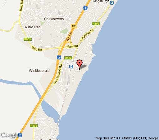 Map 125 Sancta Maria in Amanzimtoti  South Coast (KZN)  KwaZulu Natal  South Africa