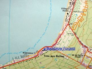 Map Bungalow Forgetti in Trou aux Biches  Mauritius