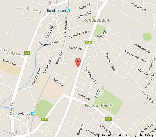 Map Rondebosch Manor  in Newlands (CPT)  Southern Suburbs (CPT)  Cape Town  Western Cape  South Africa
