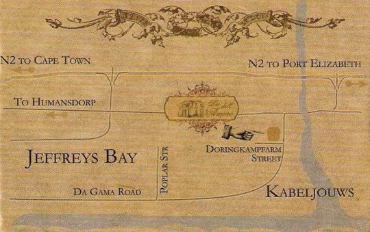 Map Dio Dell Amore in Jeffreys Bay  Cacadu (Sarah Baartman)  Eastern Cape  South Africa
