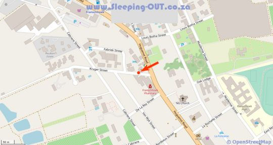 Map The Ivy Apartments in Franschhoek  Cape Winelands  Western Cape  South Africa