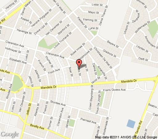 Map Silver Birch Guest House in Witbank  Heartland  Mpumalanga  Südafrika