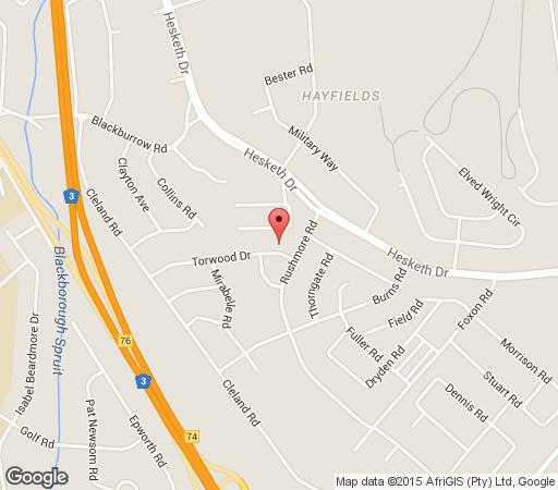 Map Home From Home in Hayfields  Pietermaritzburg  Midlands  KwaZulu Natal  South Africa