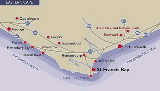 Map Robins Rest @ Cape St Francis Estate in Cape St. Francis  Cacadu (Sarah Baartman)  Eastern Cape  South Africa
