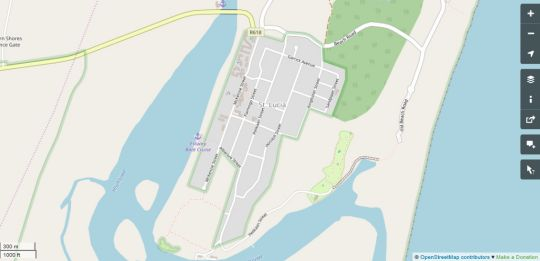 Map Bhangazi Lodge in St Lucia  Zululand  KwaZulu Natal  South Africa