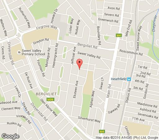 Map Honey Bee Cottage in Bergvliet  Southern Suburbs (CPT)  Cape Town  Western Cape  South Africa