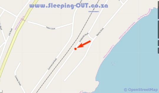 Map Pinnacles Seaside Family Unit in Umtentweni  South Coast (KZN)  KwaZulu Natal  South Africa
