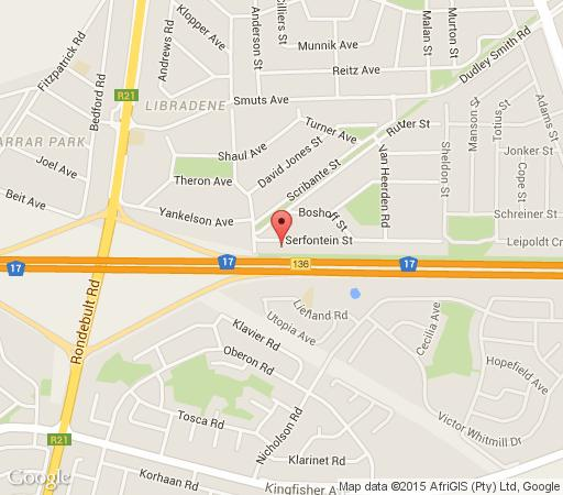 Map Kuse Khaya Guesthouse in Boksburg  Ekurhuleni (East Rand)  Gauteng  South Africa