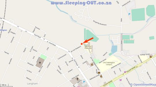 Map La Rochelle B&B in Wellington  Cape Winelands  Western Cape  South Africa