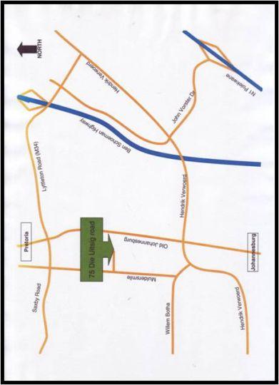 Map Uitsigpark Guest@Home4U in Eldoraigne  Centurion  Pretoria / Tshwane  Gauteng  South Africa