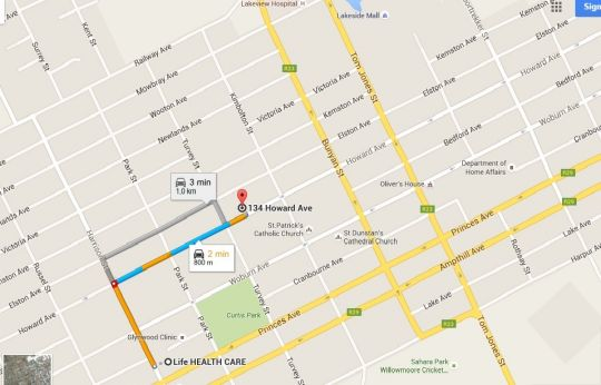 Map Franchise Guesthouse in Benoni  Ekurhuleni (East Rand)  Gauteng  South Africa