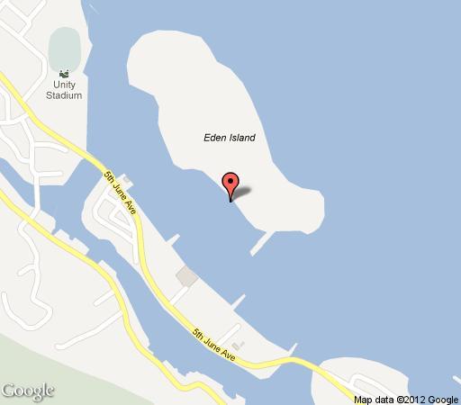 Map Patatran @ Eden Island in Seychelles