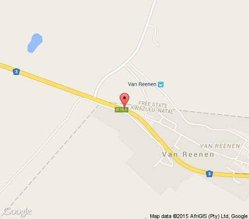 Map Protea Hotel Montrose  in Harrismith  Thabo Mofutsanyana  Free State  South Africa