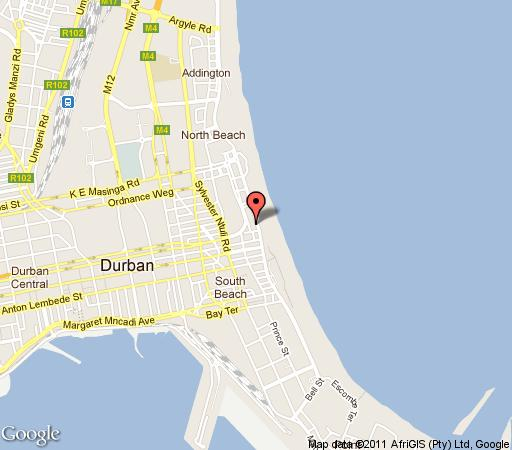 Map Protea Hotel Edward Durban  in Durban Central  Durban  Durban and Surrounds  KwaZulu Natal  South Africa