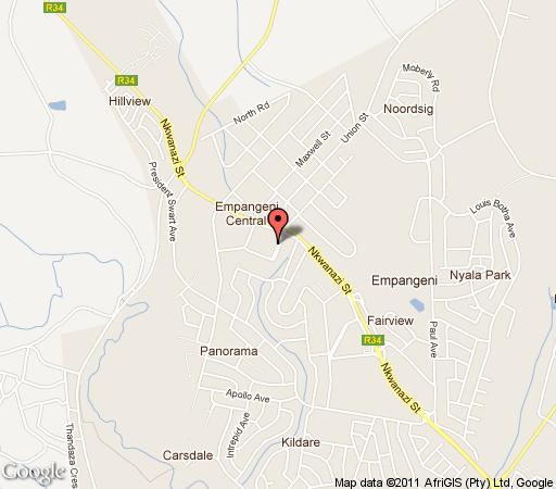 Map Protea Hotel Empangeni  in Empangeni  Zululand  KwaZulu Natal  South Africa