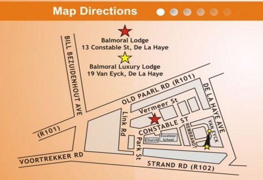 Map Balmoral Lodge in Bellville  Northern Suburbs (CPT)  Cape Town  Western Cape  South Africa