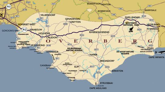 Map Swellendam Backpackers in Swellendam  Overberg  Western Cape  South Africa