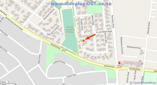 Map Morning Star Cottage in Constantia (CPT)  Southern Suburbs (CPT)  Cape Town  Western Cape  South Africa
