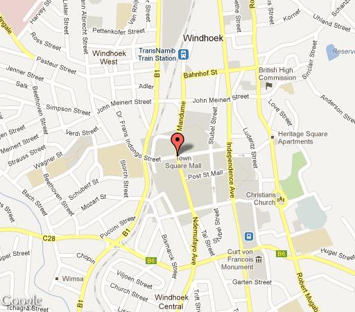 Map Protea Hotel Furstenhof   in Windhoek  Khomas  Namibia