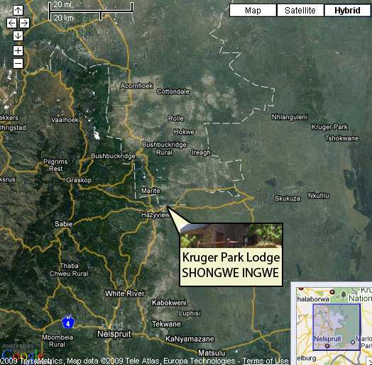 Map Shongwe Ingwe in Hazyview  The Panorama  Mpumalanga  South Africa