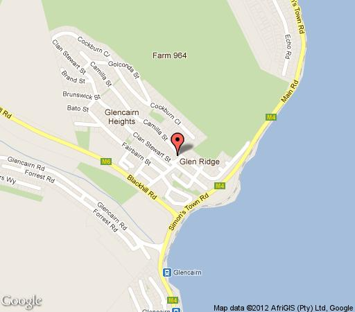 Map Bay View in Glencairn  False Bay  Cape Town  Western Cape  South Africa