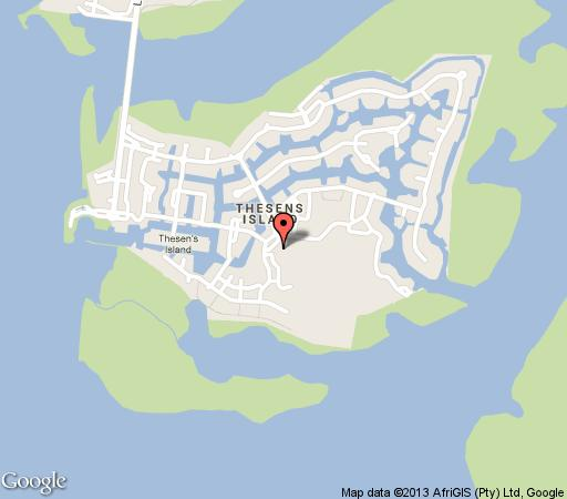 Map Thesen Island Rentals in Knysna  Garden Route  Western Cape  South Africa
