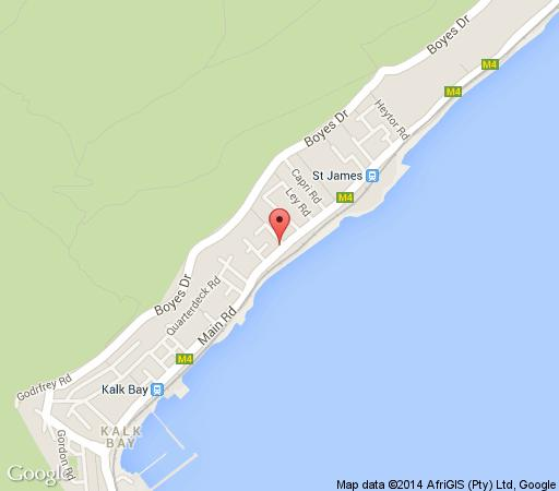 Map St James Manor, Seaforth & Homestead in St James  False Bay  Cape Town  Western Cape  South Africa