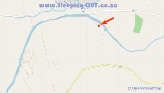 Map Bonnievale River Lodge in Bonnievale  Breede River Valley  Western Cape  Afrique du Sud