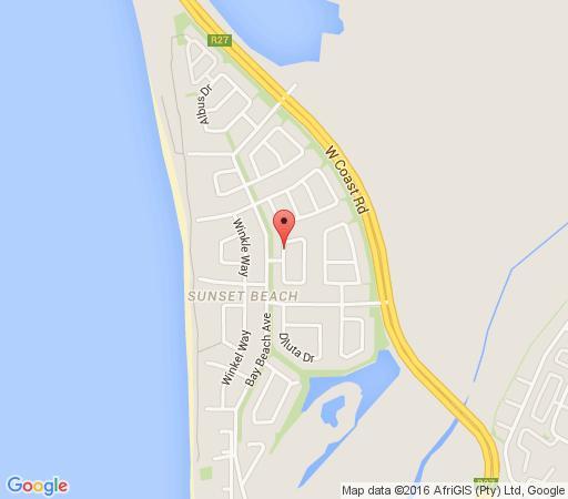 Map Sunset Decks in Sunset Beach  Blaauwberg  Cape Town  Western Cape  South Africa