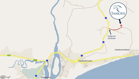 Map Tamodi Lodge and Stables in Plettenberg Bay  Garden Route  Western Cape  South Africa