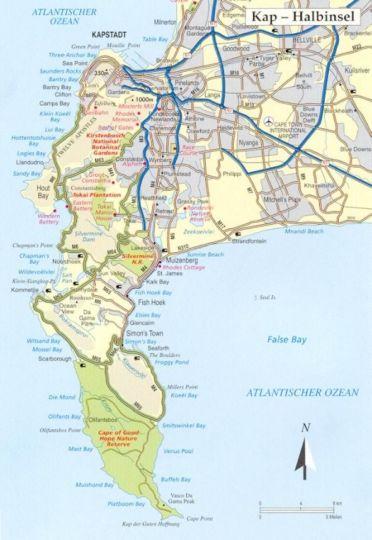 Map Allstar-villa in Sunset Beach  Blaauwberg  Cape Town  Western Cape  South Africa