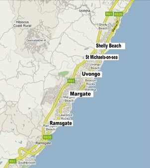 Map 12 Stafford Place in Uvongo  South Coast (KZN)  KwaZulu Natal  South Africa