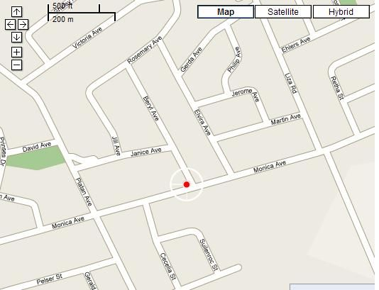 Map Beryl1 Guest House in Klerksdorp  Southern (NW)  North West  South Africa
