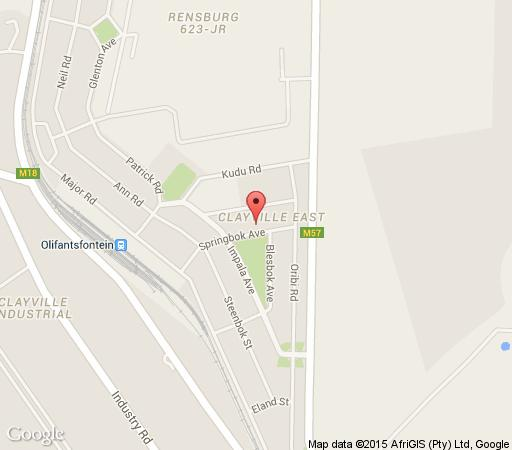 Map Palesa Guesthouse in Clayville  Olifantsfontein  Johannesburg  Gauteng  South Africa