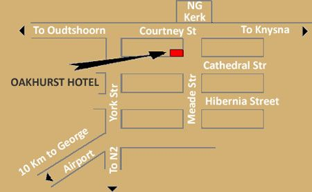Map Oakhurst Hotel  in George  Garden Route  Western Cape  South Africa