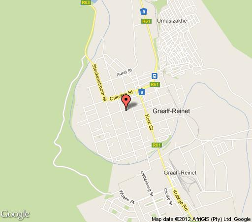 Map Aa\'Qtansisi Bed and Breakfast in Graaff-Reinet  Cacadu (Sarah Baartman)  Eastern Cape  South Africa