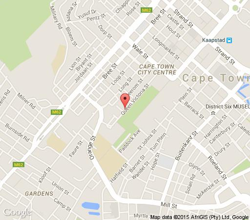 Map St. Martini Gardens in Gardens  City Bowl  Cape Town  Western Cape  South Africa