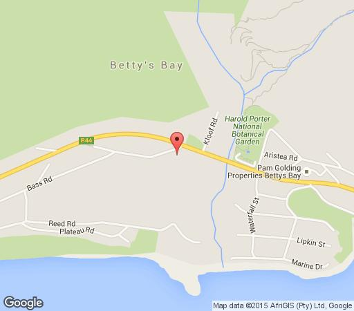 Map Ambre Cottage in Betty's Bay  Overberg  Western Cape  South Africa