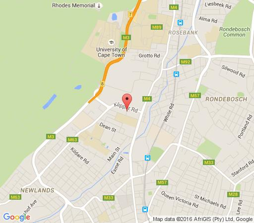 Map Rondebosch Guest House in Rondebosch  Southern Suburbs (CPT)  Cape Town  Western Cape  South Africa