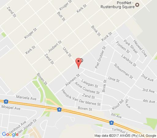 Map Rustenburg Inn in Rustenburg  Bojanala  North West  South Africa