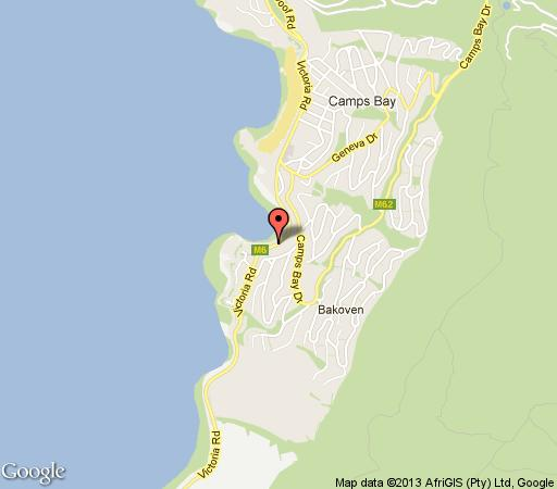 Map Azamare in Camps Bay  Atlantic Seaboard  Le Cap  Western Cape  Afrique du Sud