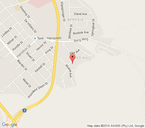 Map Greensleeves Guesthouse in Harrismith  Thabo Mofutsanyana  Free State  South Africa