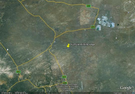 Map Kurhula Wildlife Lodge in Hoedspruit  Valley of the Olifants  Limpopo  South Africa
