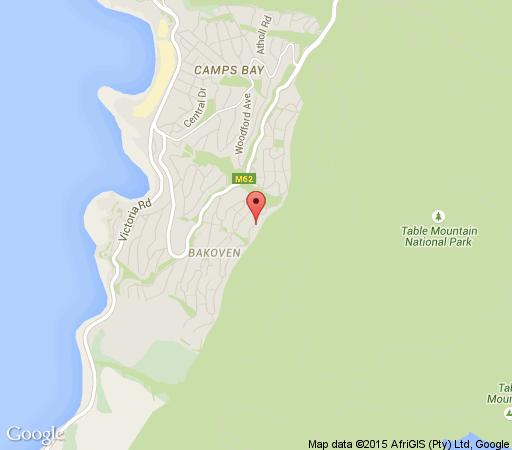 Map Camps Bay House in Camps Bay  Atlantic Seaboard  Cape Town  Western Cape  South Africa