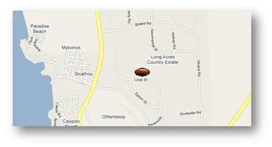 Map The Wacky Bush Lodge in Langebaan  West Coast (WC)  Western Cape  South Africa