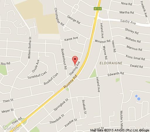 Map Sekelbos Guesthouse in Eldoraigne  Centurion  Pretoria / Tshwane  Gauteng  South Africa
