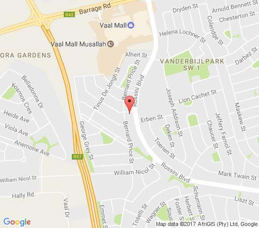 Map Mall Guesthouse in Vanderbijlpark  Sedibeng District  Gauteng  South Africa
