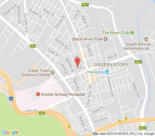 Map Birds Mountain & Wild Sage in Observatory (CPT)  Southern Suburbs (CPT)  Cape Town  Western Cape  South Africa