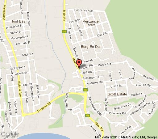 Map Bay Mews in Hout Bay  Atlantic Seaboard  Cape Town  Western Cape  South Africa